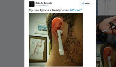 Internet vol met tandenborstelvergelijkingen met headset iPhone 7