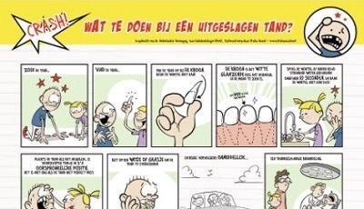 Poster 'Wat te doen bij een uitgeslagen tand' herdrukt