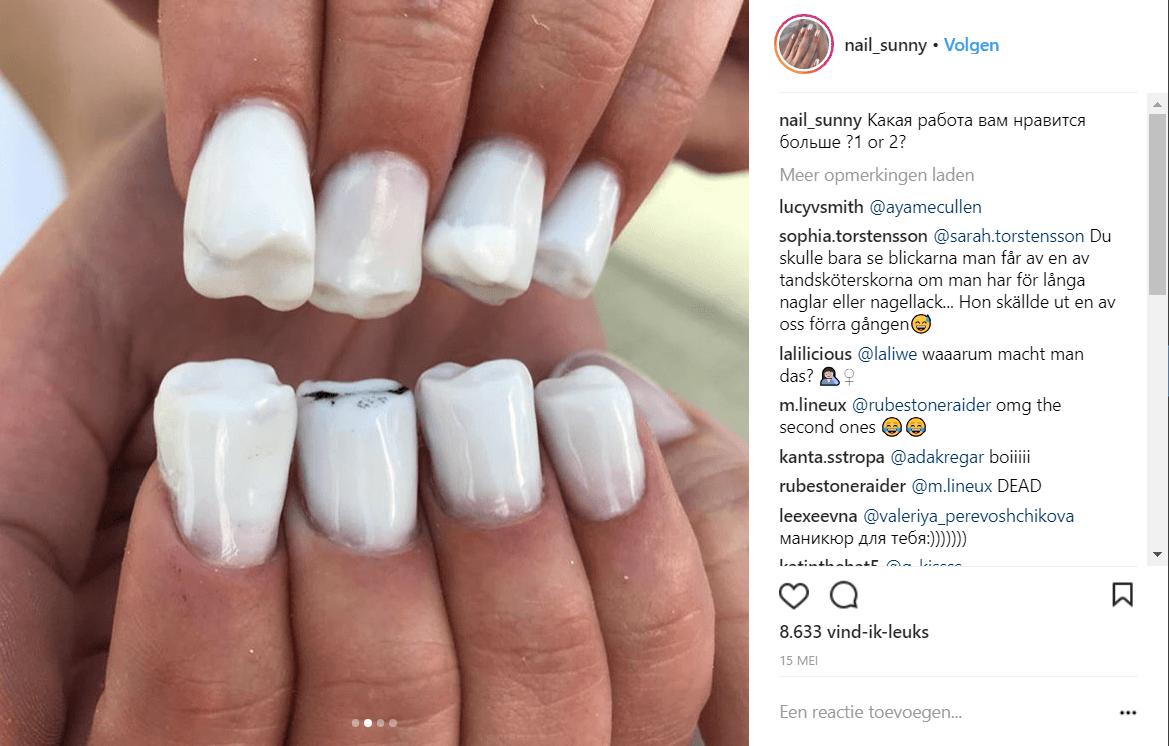 Tanden aan je handen instagram