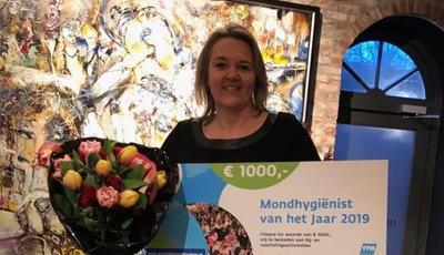 Saskia den Hartog uitgeroepen tot Mondhygiënist van het Jaar 2019