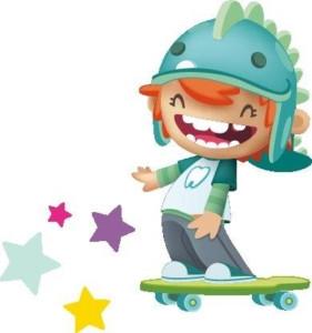 VITIS kids - jongen op skateboard