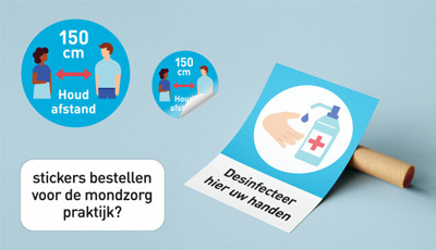 Stickers-en-posters-werk-mondzorg-tijdens-coronacrisis