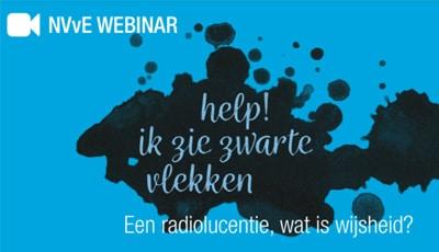 NVvE webinar: HELP! Ik zie zwarte vlekken