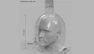 Nieuw idee om infectie tijdens behandeling tegen te gaan: speciale helm voor patiënten