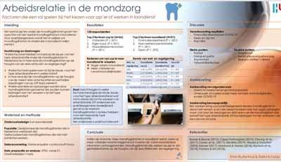 Poster: Welke factoren spelen een rol spelen bij keuze zzp'er of werken in loondienst