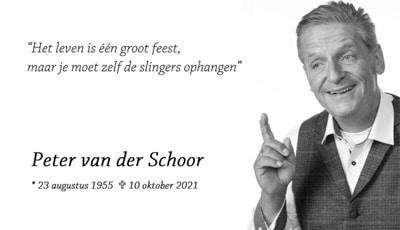 In memoriam Peter van der Schoor, tandarts-implantoloog